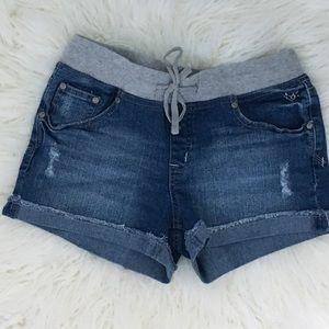 Drawstring Jean shorts